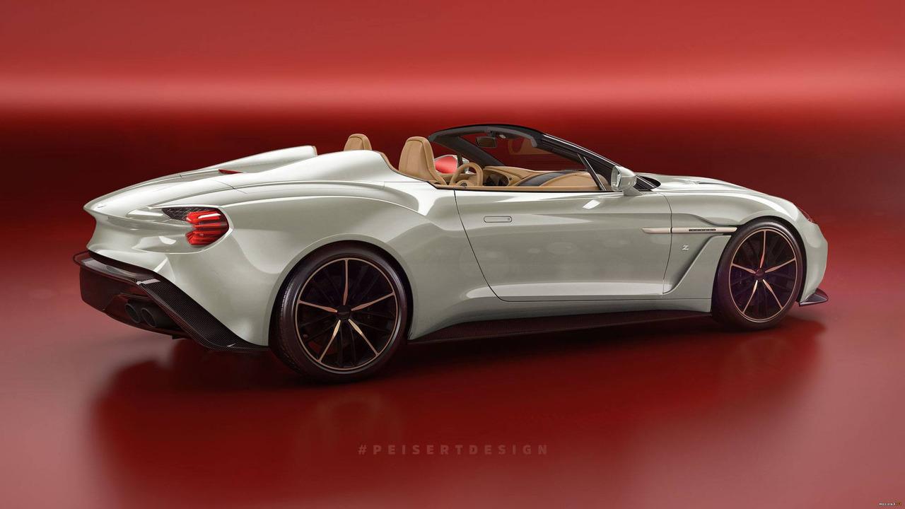 Aston Martin Vanquish Zagato Speedster render
