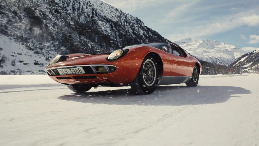 Watching This Lamborghini Miura In The Snow Is Oddly Satisfying