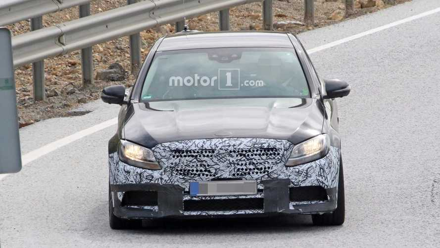 Mercedes-AMG C63 Sedan Facelift Spied Testing With Halogen Lamps