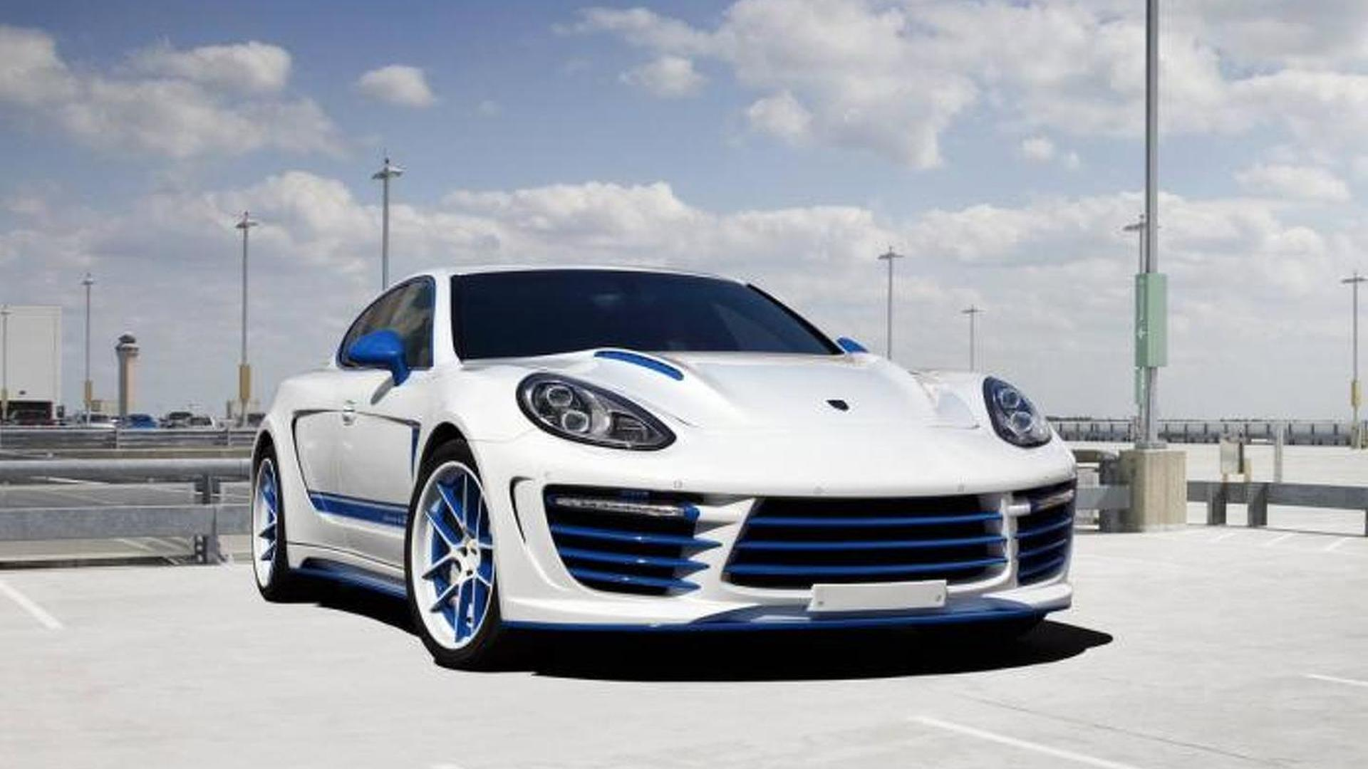 Русский тюнинг Porsche Panamera Stingray GTR Blue