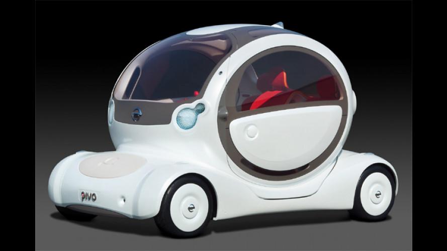 Nissan Pivo: Eine wohl nicht ganz bierernste Autozukunft