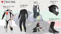 Equipamiento racing Dainese-AGV 2017
