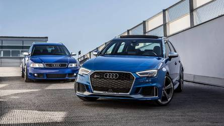 Audi RS3 Sportback Vs 2001 Audi RS4 Avant Is A Fun Family Feud