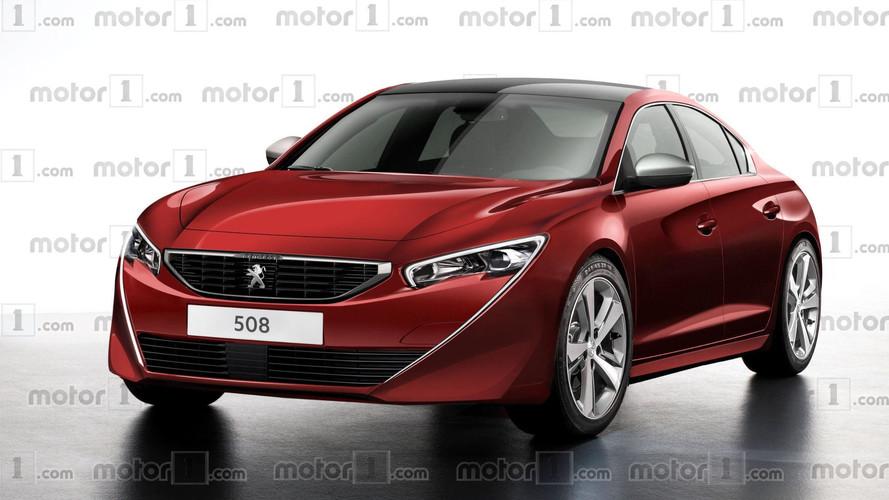 Peugeot 508 2018, un render muy atractivo