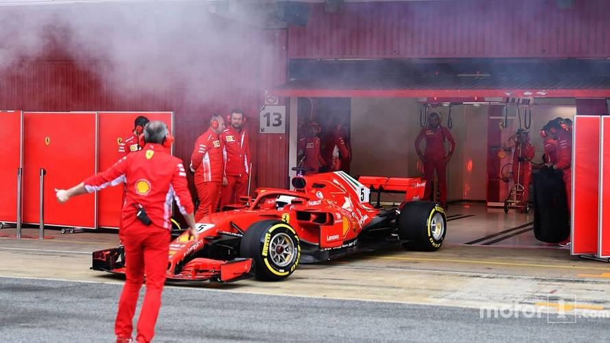 What Was Behind The Smoking Ferraris In Barcelona F1 Test?