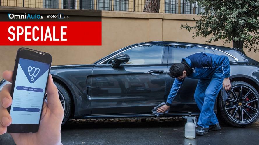 WashOut, la prova dell'app che ti lava la macchina sotto casa