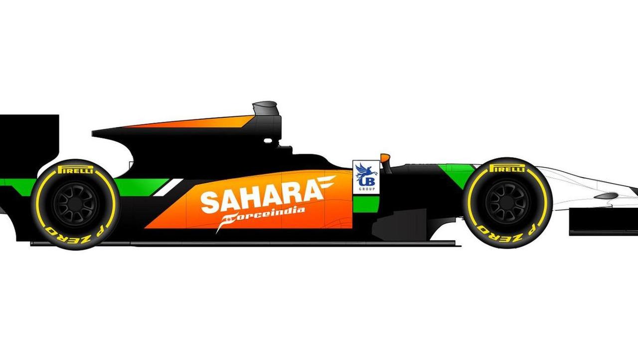 Sahara Force India Hilmer Motorsport GP2 livery