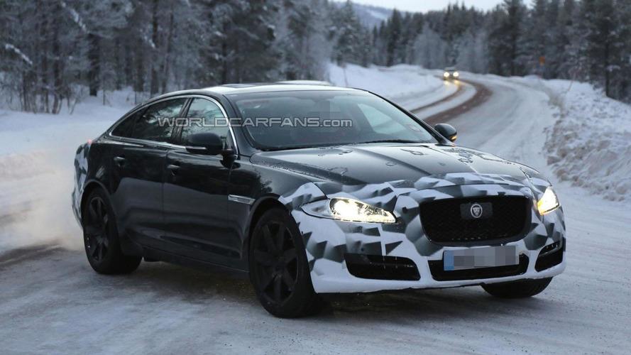2015 Jaguar XJ facelift spied near the Arctic Circle