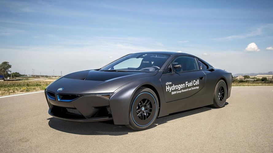 BMW unveils i8 hydrogen fuel cell research vehicle