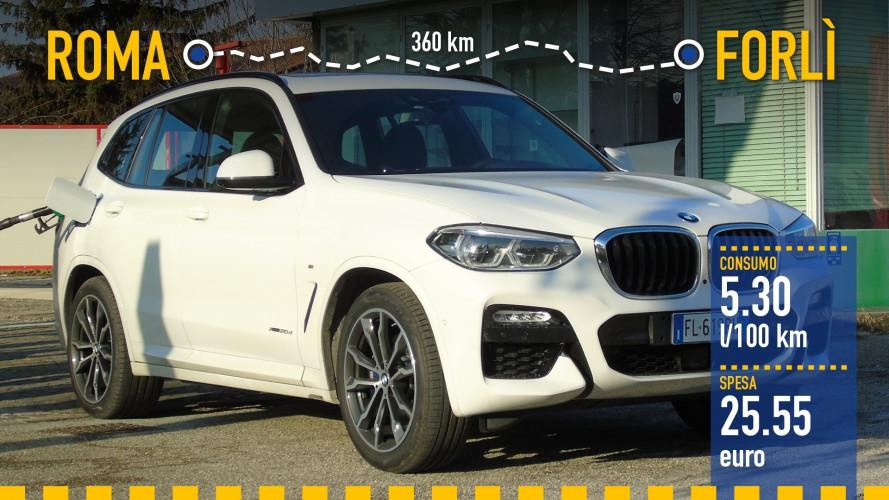 BMW X3, la prova dei consumi reali