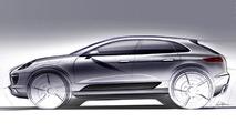 Porsche Macan compact SUV design sketch 16.02.2012