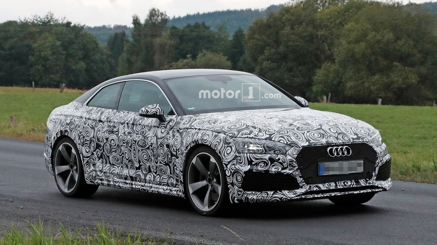 Audi RS 5 spied with production front end under camouflage