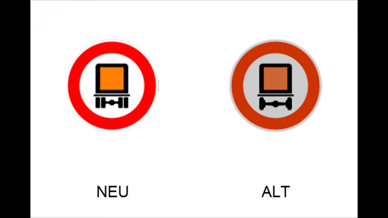 Verbot für kennzeichnungspflichtige Kraftfahrzeuge  mit gefährlichen Gütern