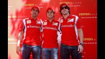 Alsonso e Massa all'inagurazione del Ferrari Store a Barcellona