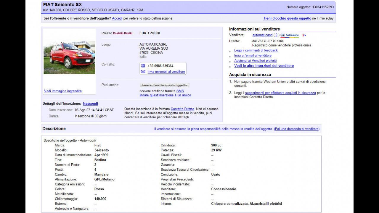 Canale Auto a Gpl e Metano su Ebay