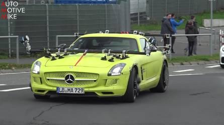 Gizemli Mercedes SLS AMG Electric Drive prototipi yine yakalandı