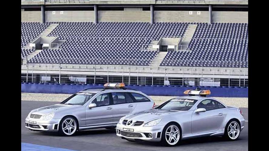 Mercedes-Benz SLK 55 AMG als Safety-Car in der Formel 1