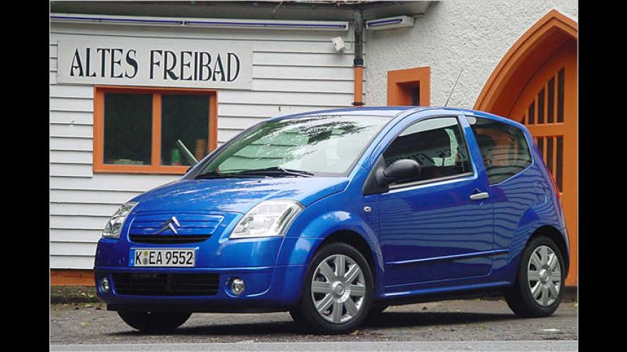 Citroën C2 Stop&Start: Stadtflitzer mit Motor-Aus-Automatik