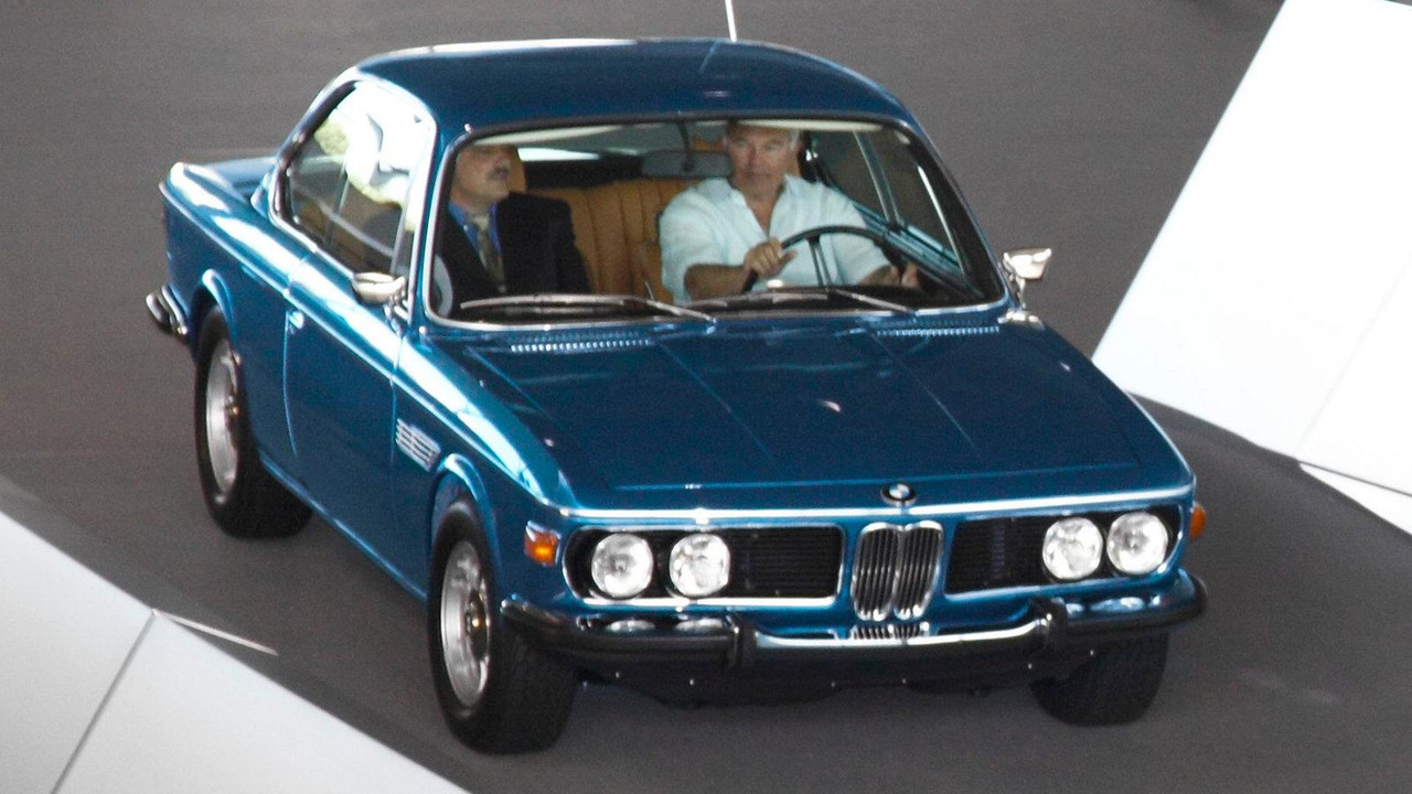 Fully restored 1972 BMW 3.0 CSi is handed back to its owner at the BMW Welt 20.07.2010
