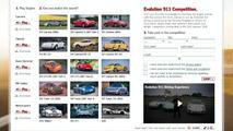 Porsche 911 Evolution competition site screenshot