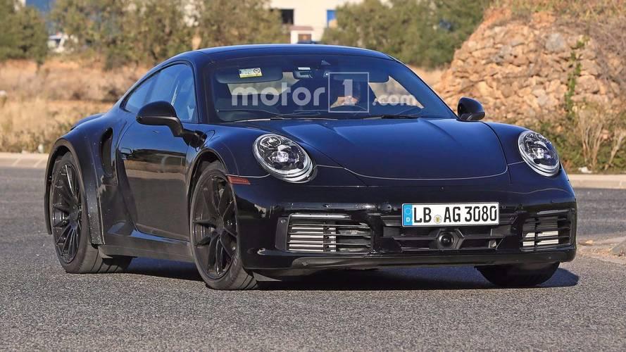 Next-Gen Porsche 911 Turbo Is Back In Black, Spied On The Street
