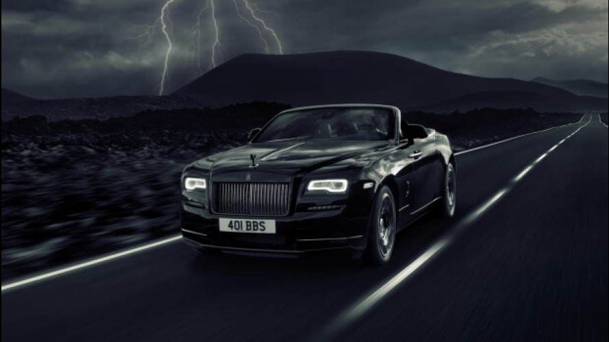 Rolls Royce Dawn Black Badge, tutta nera e con 600 CV