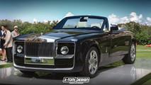 Rolls-Royce Sweptail cabrio render