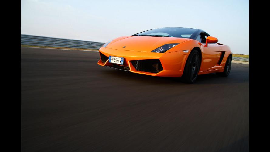 In pista con la Lamborghini Gallardo Bicolore