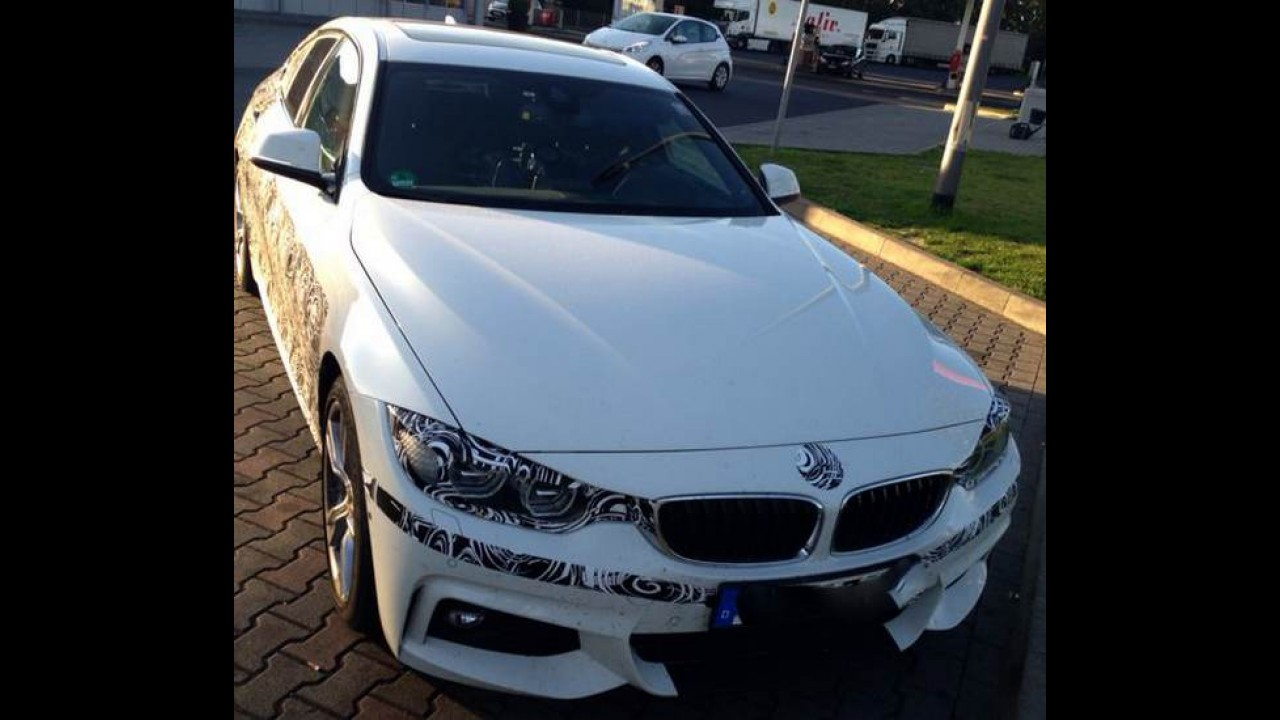 Flagra: BMW Série 4 Grand Coupé já está sendo testado