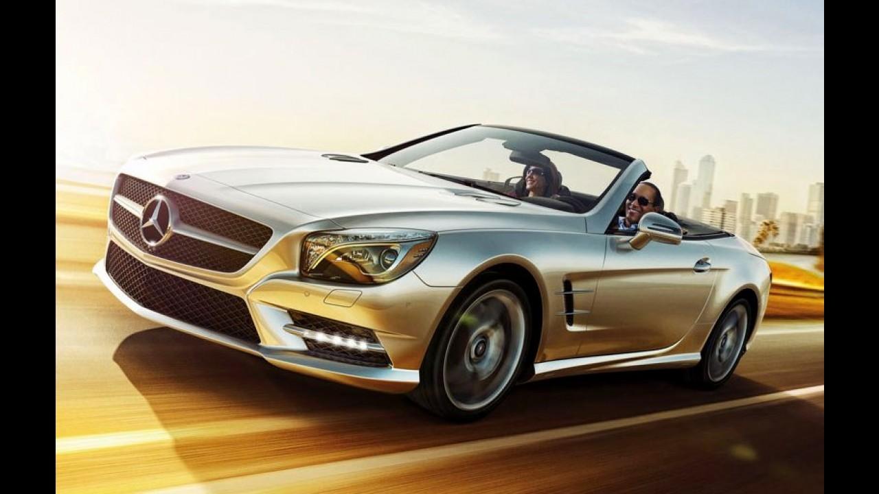 Mercedes SL Roadster 2017 aparece em primeira foto antes da estreia