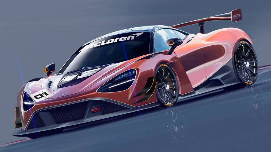 McLaren 720S GT3 racing car
