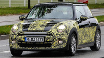 Next-gen MINI spied wearing less camouflage