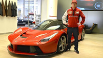 Kimi Räikkönen with LaFerrari in Maranello