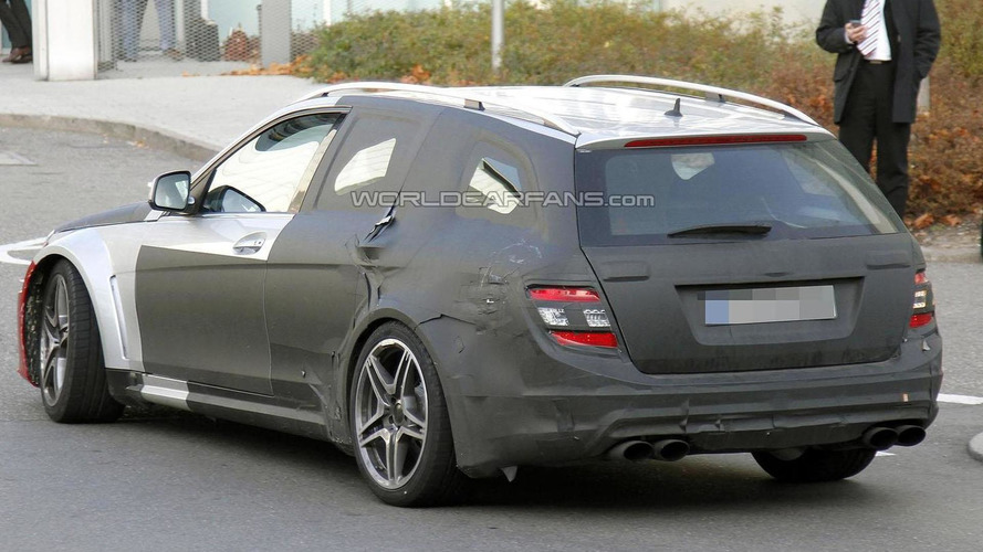 2013 Mercedes C63 AMG Wagon Black Series spied