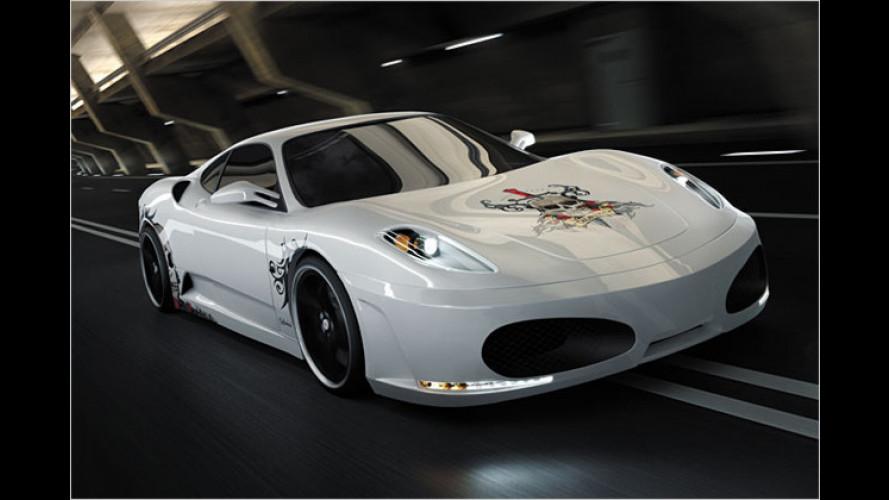 Ferrari mit Totenkopf