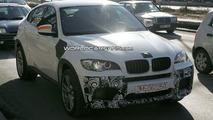 BMW X6 M in white spy photos