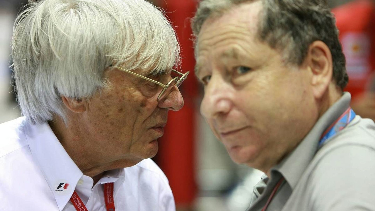 Bernie Ecclestone (GBR) and Jean Todt (FRA), Singapore Grand Prix, 27.09.2008