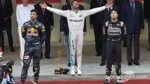 Ricciardo, Hamilton, Perez