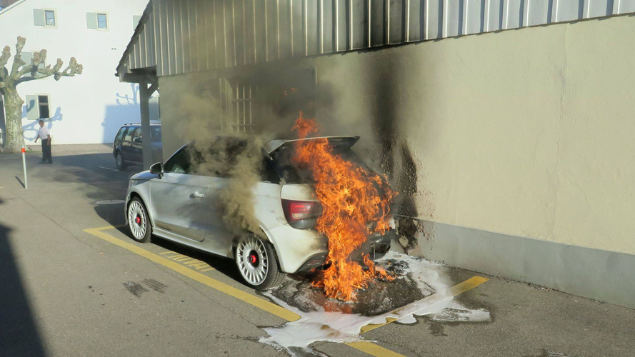 Burning Audi A1 Quattro Is The Saddest Thing You'll See Today