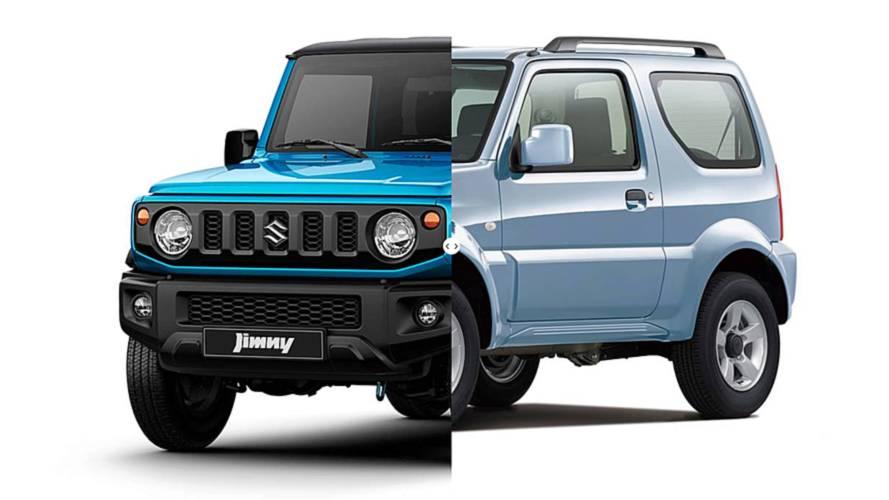 Suzuki Jimny, nuova e vecchia a confronto