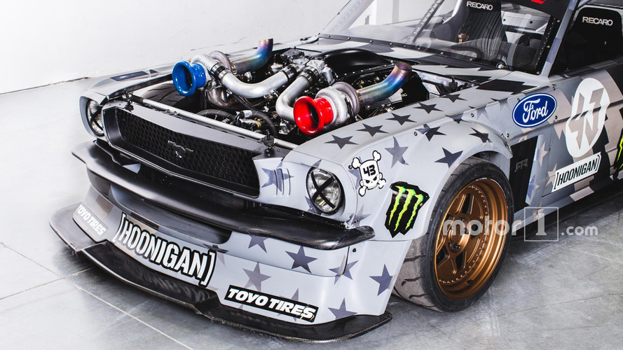 photos 1400 chevaux pour la ford mustang hoonicorn v2 de ken block. Black Bedroom Furniture Sets. Home Design Ideas
