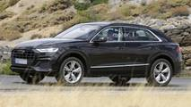 2019 Audi Q8 almost undisguised spy photos
