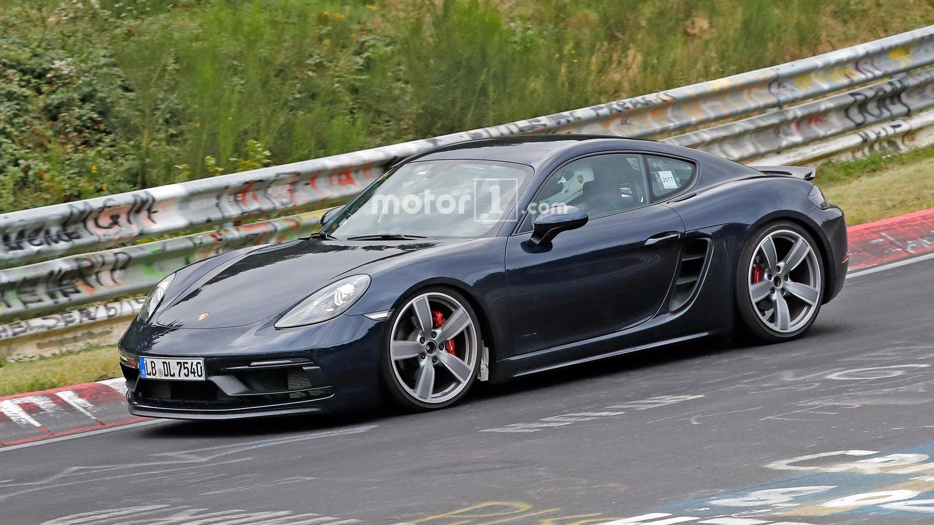Porsche 718 Cayman Gts Spied Undisguised On The N 252 Rburgring