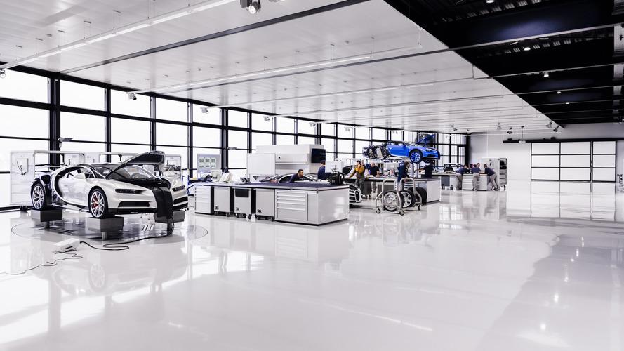 Bugatti, Chiron üretimine başladı