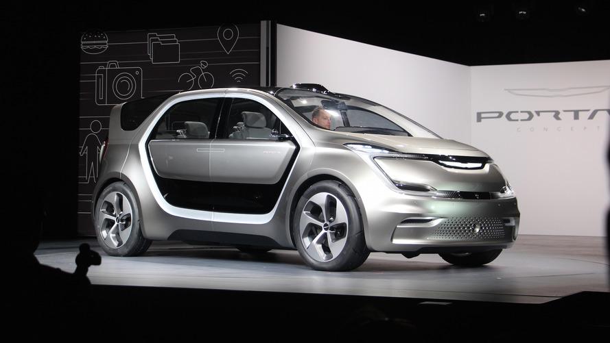 Autonomous Chrysler Portal concept can recognize your face