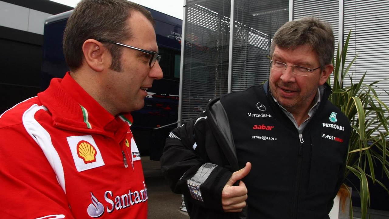 Stefano Domenicali and Ross Brawn 06.05.2011 Turkish Grand Prix