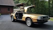 Gold-Plated DeLorean DMC-12 eBay