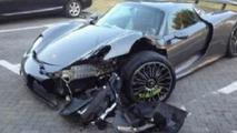 Porsche 918 Spyder crash aftermath