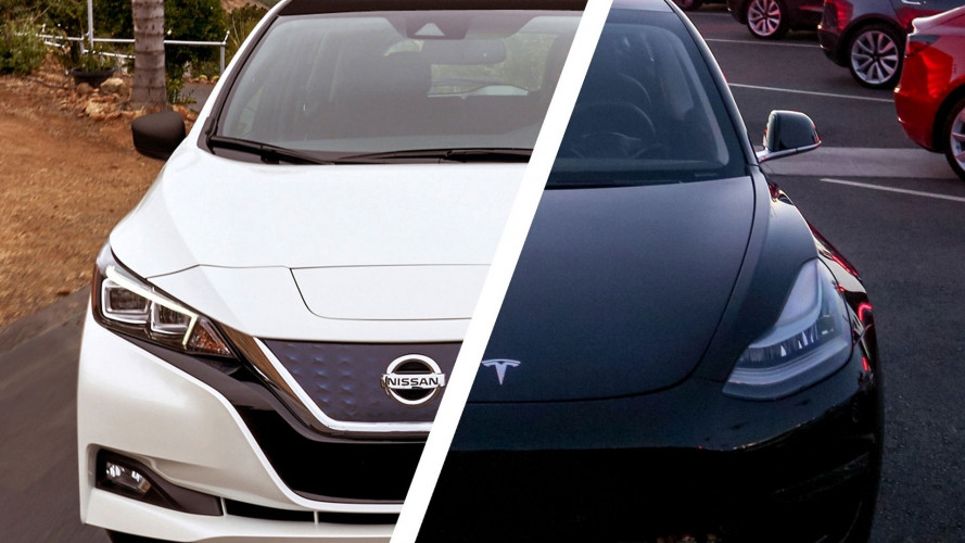Nuova Nissan Leaf vs Tesla Model 3: così diverse, così uguali