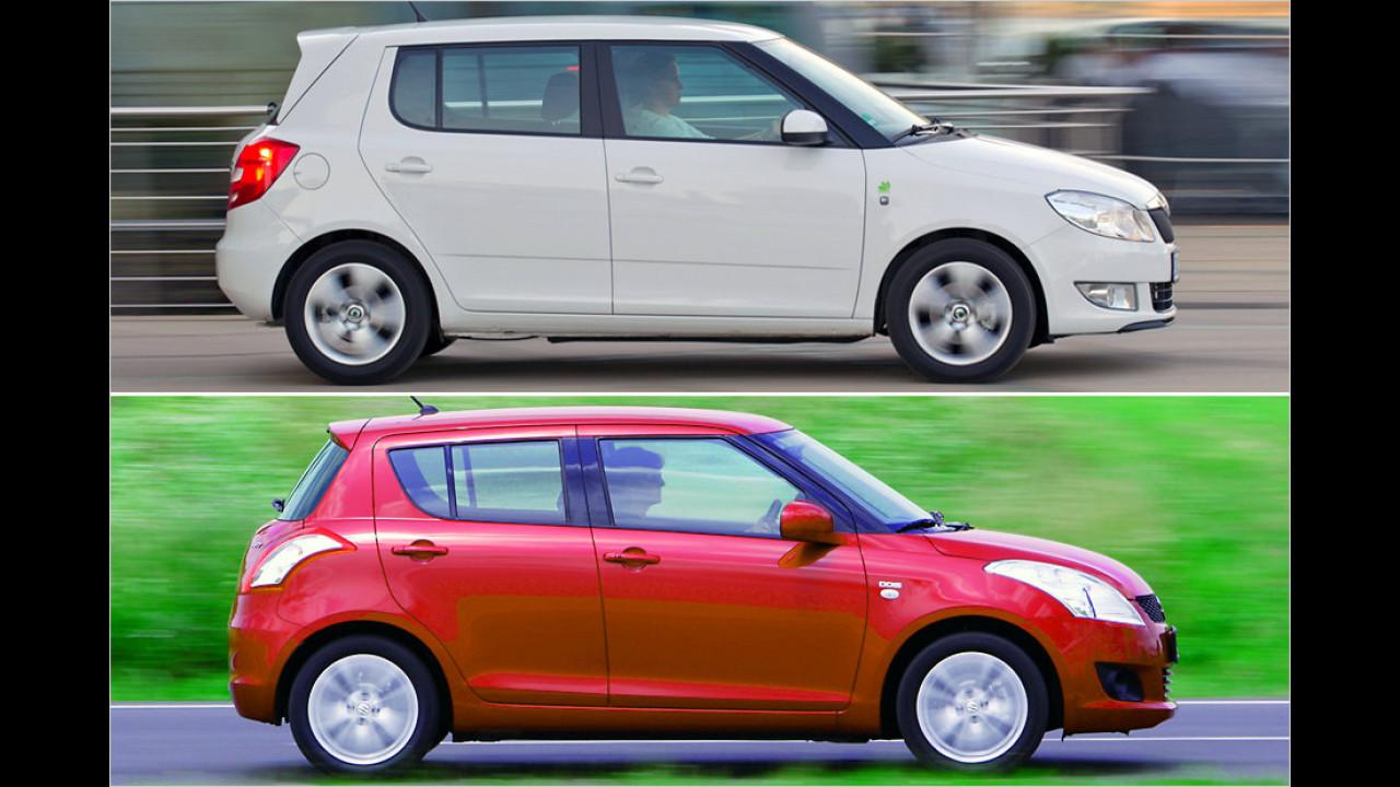 Skoda Fabia und Suzuki Swift